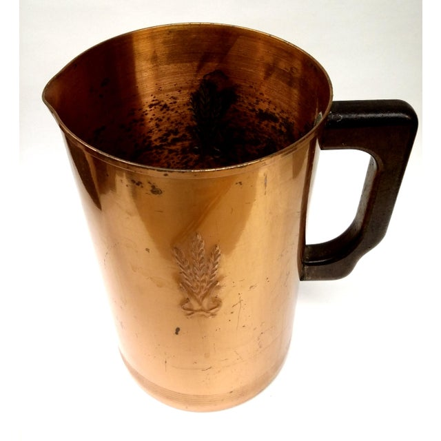 Mid-Century Embossed Solid Copper Pot - Image 6 of 8