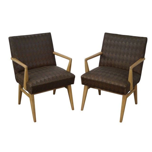 Mid-Century Russel Wright Lounge Chairs - Pair For Sale