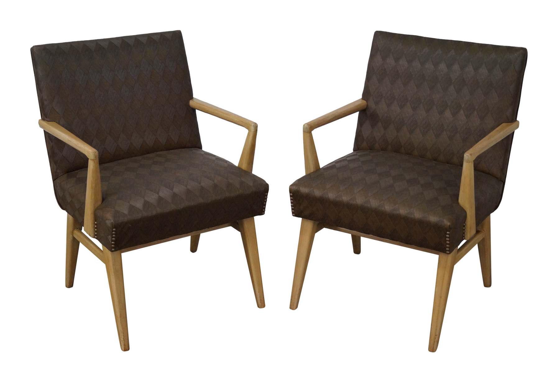 Mid Century Russel Wright Lounge Chairs   Pair