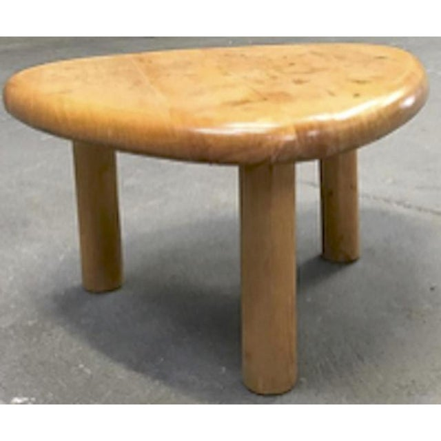 Mid-Century Modern Charlotte Perriand for Meribel Tripod Pine Coffee Table For Sale - Image 3 of 6