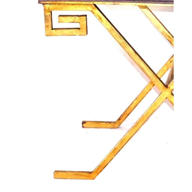 Early 20th Century 20th Century Gold Iron Stools After Jean Michel Frank - a Pair For Sale - Image 5 of 6