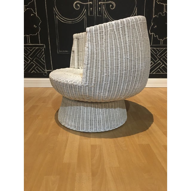 1960s 1960s Rattan Swivel Tulip Chairs - A Pair For Sale - Image 5 of 7