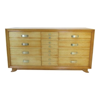 Mid-Century Modern Blonde Wood 12-Drawer Dresser For Sale