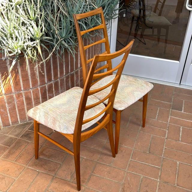 Danish Modern Koefoeds Hornslet Teak Ladder-Back Dining Chairs - Set of 8 For Sale - Image 9 of 13
