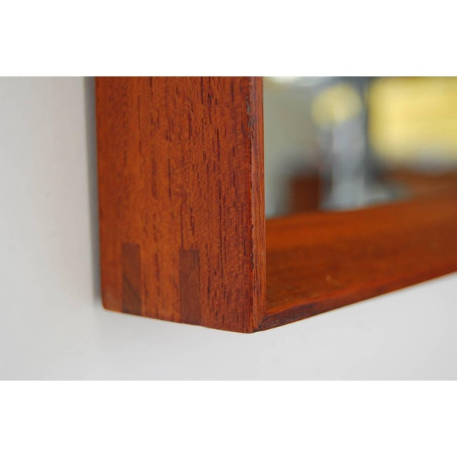 Glass Teak and Wall Shelf and Mirror by Ludvig Pontoppidan For Sale - Image 7 of 8