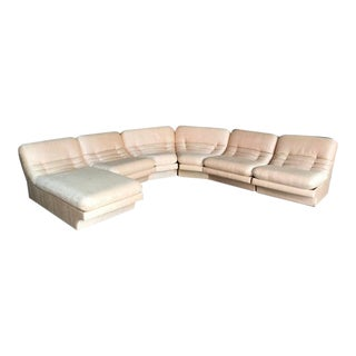 Mid-Century Carson's 6 Piece Sectional With Lounge Chaise For Sale