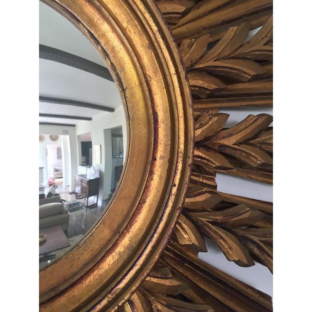 Wooden Sunburst Mirror - Image 8 of 11