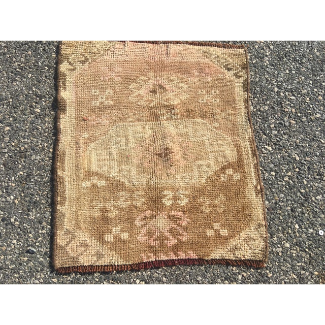 Oushak Turkish Rug - 2′2″ × 2′6″ - Image 3 of 8