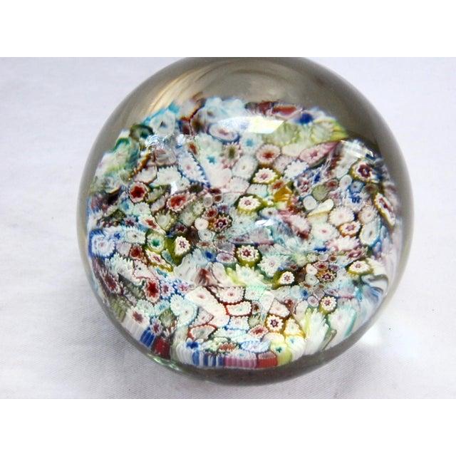 Italian Murano Glass Millefiori Paperweight For Sale - Image 5 of 5