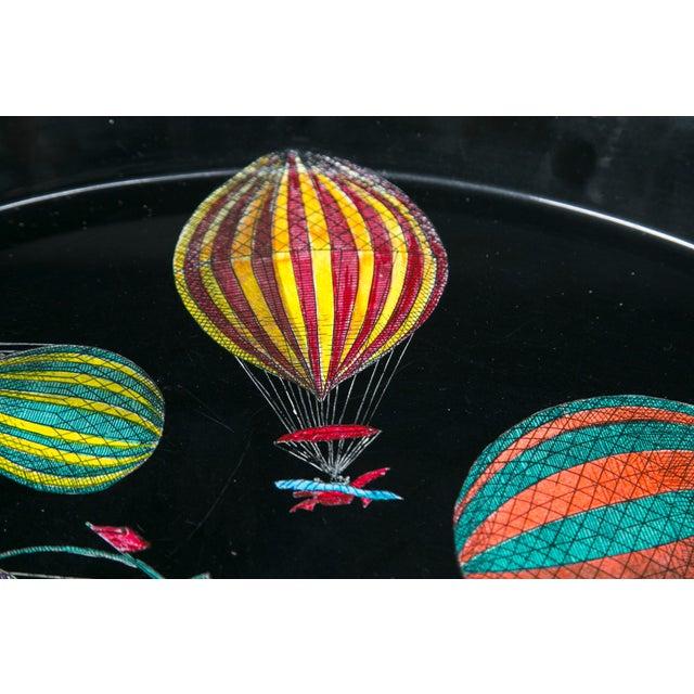 Piero Fornasetti Piero Fornasetti Hot Air Balloon Tray For Sale - Image 4 of 8
