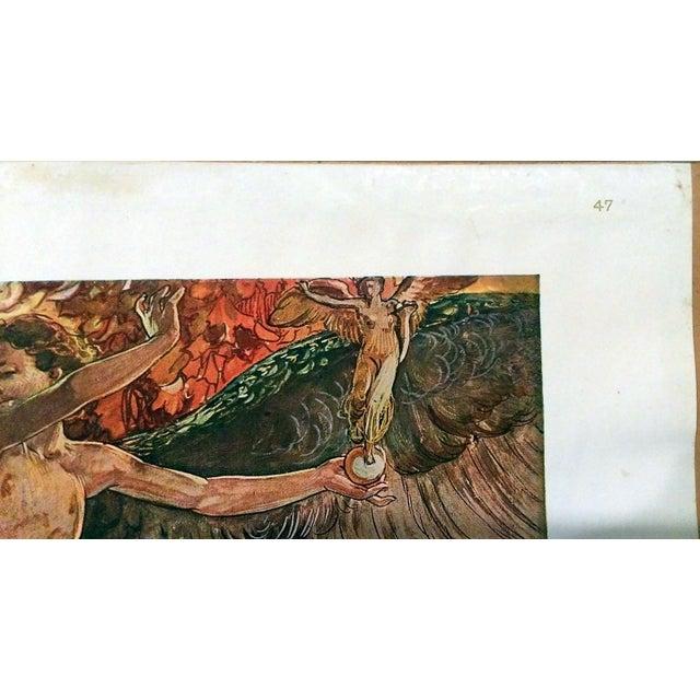 1910 Galileo Chini Decorative Panel Lithograph - Image 3 of 7