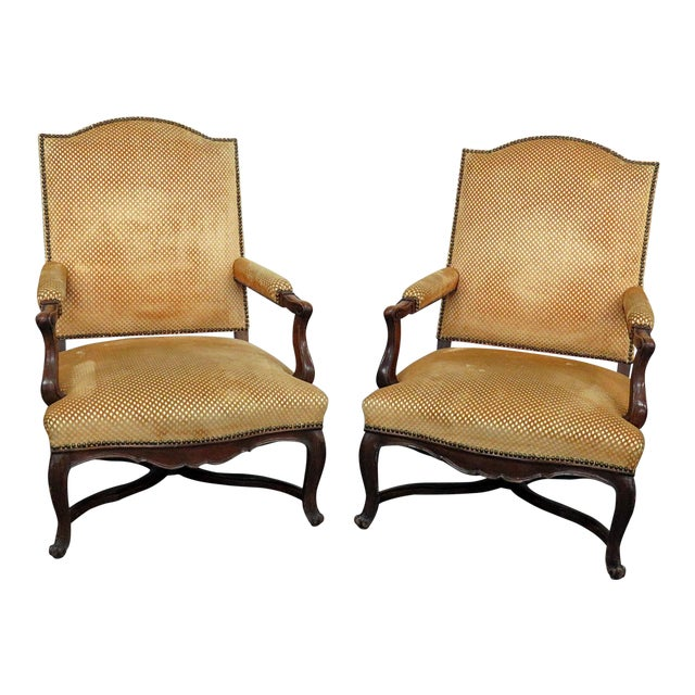 Pair of Country French Arm Chairs For Sale