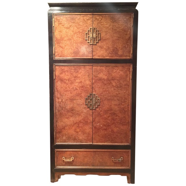 Century Furniture Ming Style Burl Airmoire - Image 1 of 9