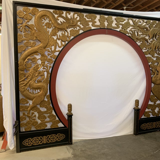 This is such an interesting piece. Huge Chinese moon gate that was once used in a large department store. I was told...