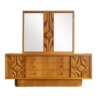 1960s Mid-Century Canadian Brutalist Mirror For Sale