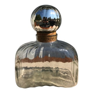1980s Vintage Blown Glass Perfume Bottle For Sale