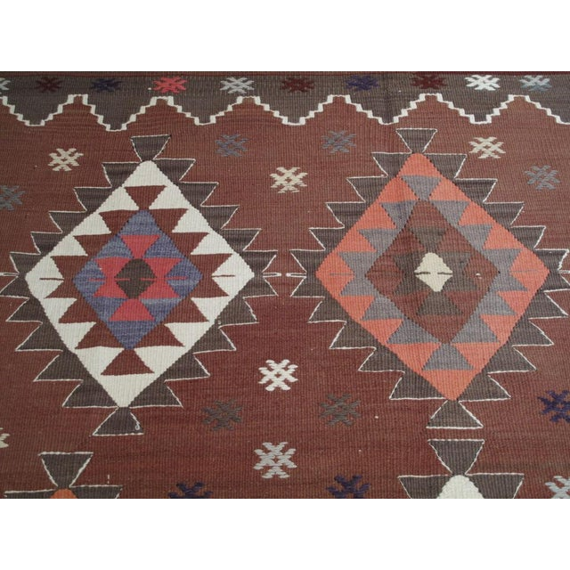 Blue Balikesir Kilim For Sale - Image 8 of 8