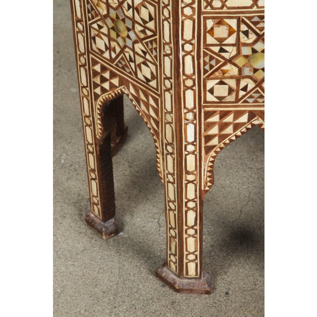 Mid 20th Century Large Pair of Syrian Octagonal Pedestal Tables For Sale - Image 5 of 9