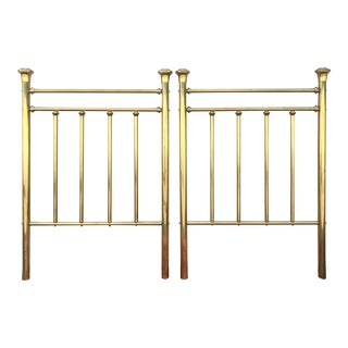 Hollywood Regency Twin Brass Headboards - a Pair For Sale