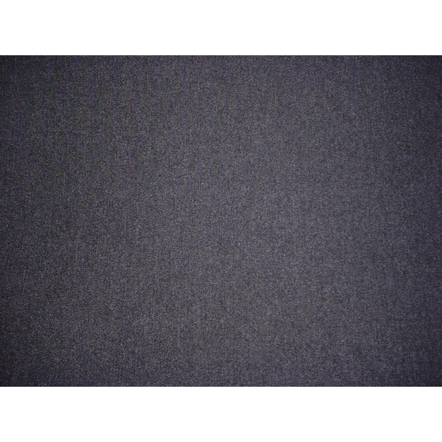 Traditional Kravet Couture Charcoal Gray Heavy Wool Felt Upholstery Fabric - 18-1/4y For Sale