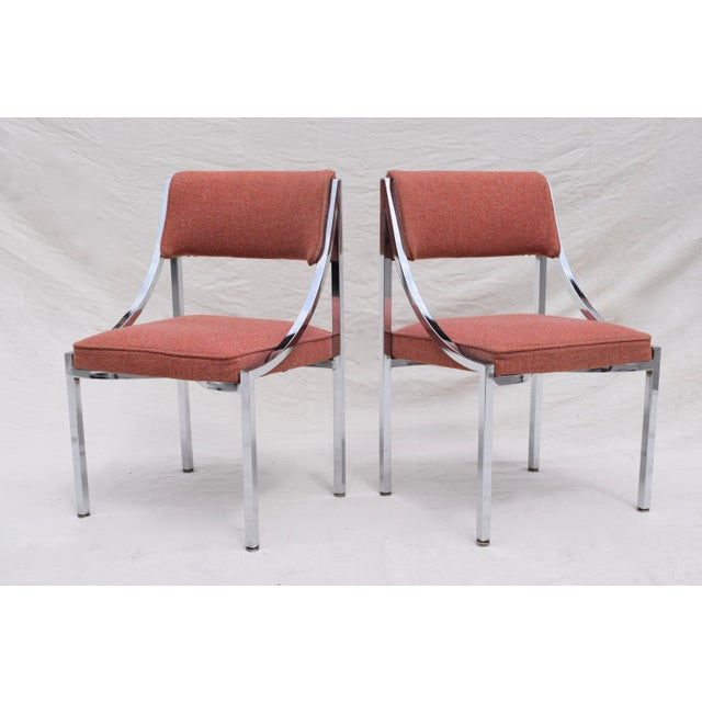 Mid 20th Century Wolfgang Hoffman Howell Chrome Dining Chairs For Sale - Image 5 of 8