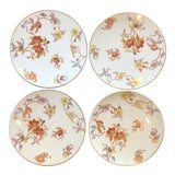 Image of Late 19th Century Antique Pirkenhammer Floral Plates - Set of 4 For Sale