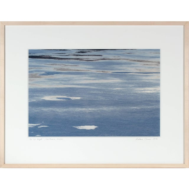 "Gaetan Caron Gaétan Caron ""Le Dégel"" (Thawing), Ice Melting on Lake, Abstract (Framed) 2016 For Sale - Image 4 of 5"