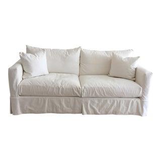 Crate & Barrel White Willow Sofa
