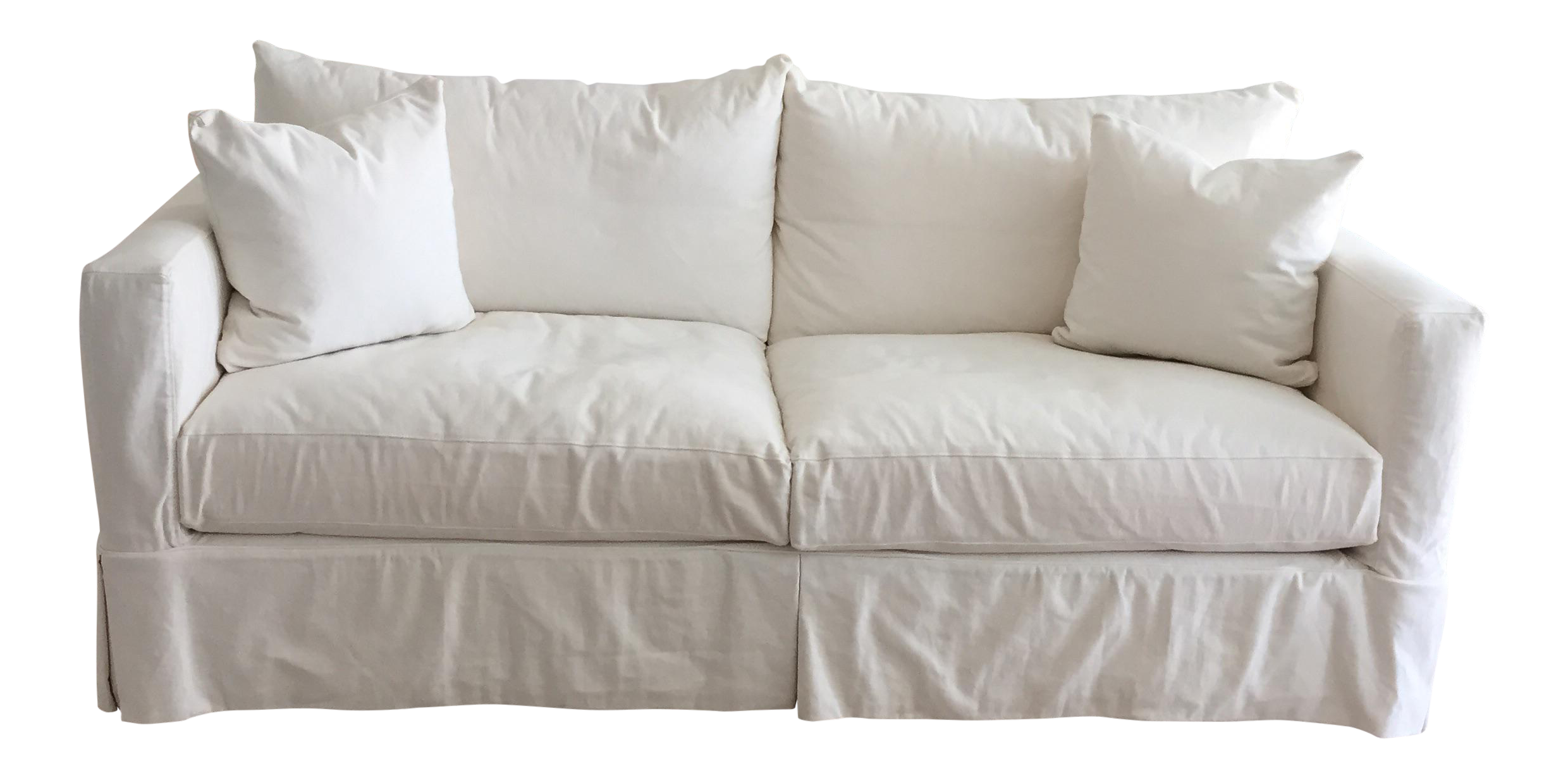 Crate Barrel White Willow Sofa Chairish