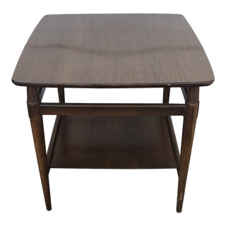 Vintage Mid Century Modern Bassett End Table With Laminate Top For Sale