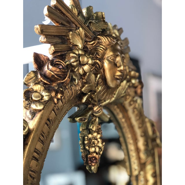 Spanish Early 20th Century Gold Leaf Mirror Made in Spain For Sale - Image 3 of 5
