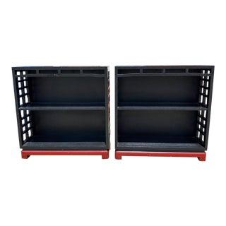 Vintage Black Bookcases - a Pair For Sale