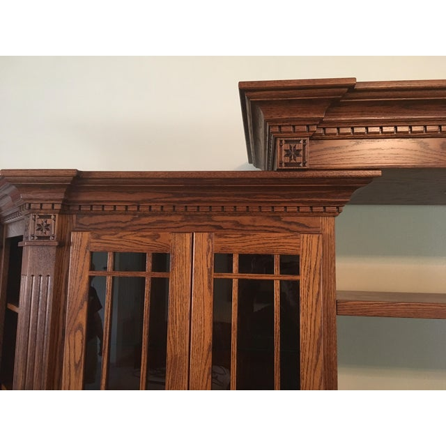 Amish Lighted 5-Piece Wall Unit - Image 11 of 11