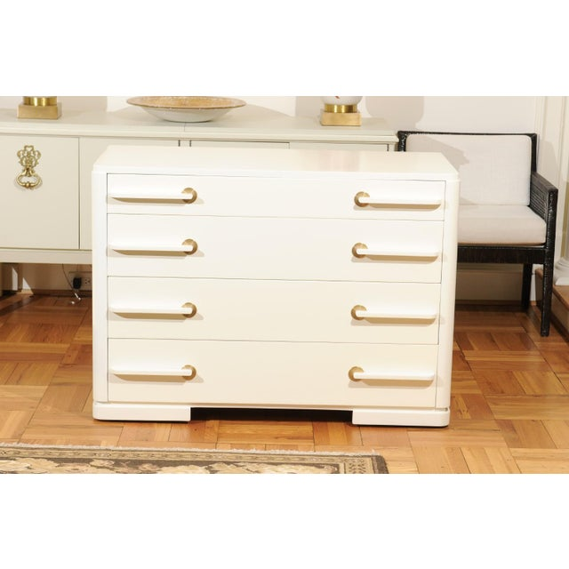 Sublime Restored Streamline Moderne Commode by Gilbert Rohde, circa 1930 For Sale In Atlanta - Image 6 of 13