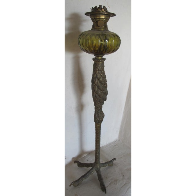 Victorian Era Bird Leg Kerosene Lamp - Image 2 of 3