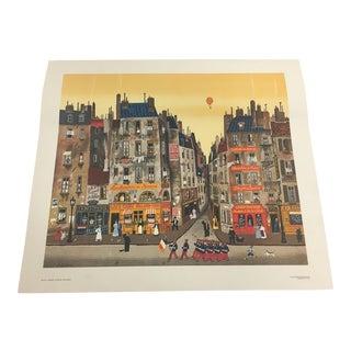 """1970s Vintage Michel Delacroix """"Parade"""" Lithograph Print For Sale"""