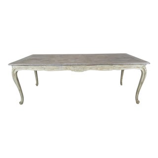 French Louis XV Style Painted Dining Table For Sale