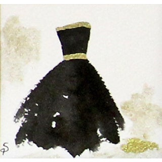 Contemporary Black Ballgown Painting For Sale