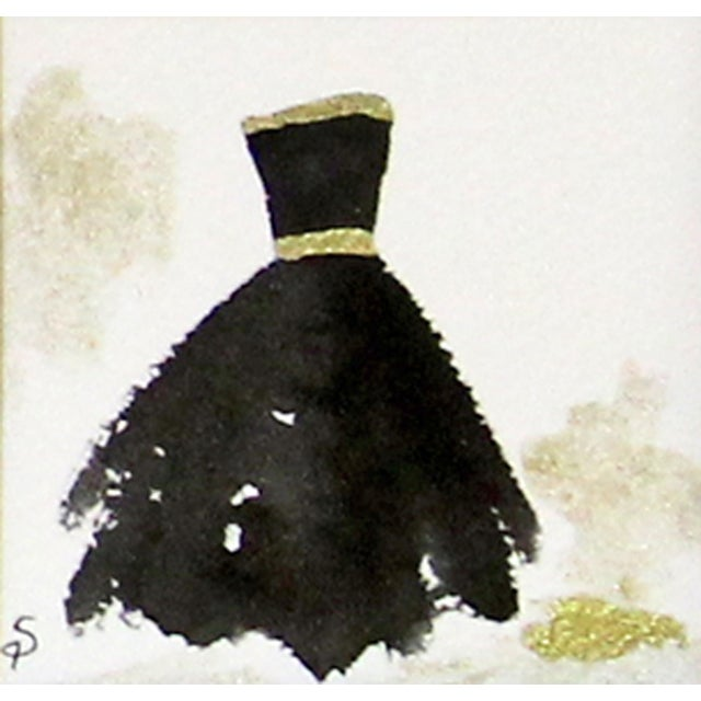 Contemporary Black Ballgown Painting - Image 1 of 2