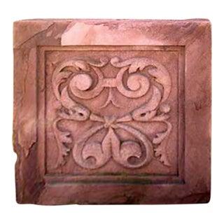 Last Quarter 19th Century Brownstone Plaque Carved Foliate Design For Sale