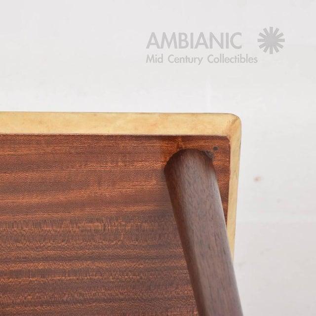 Brown Italian Mid-Century Aldo Tura Side Table For Sale - Image 8 of 8