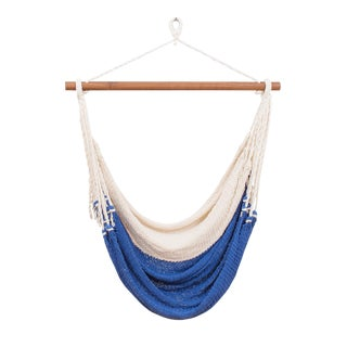 Alba Swing in Phthalo Color Block + Walnut Rod For Sale