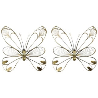 Butterfly Sculptures by Curtis Jere - a Pair For Sale