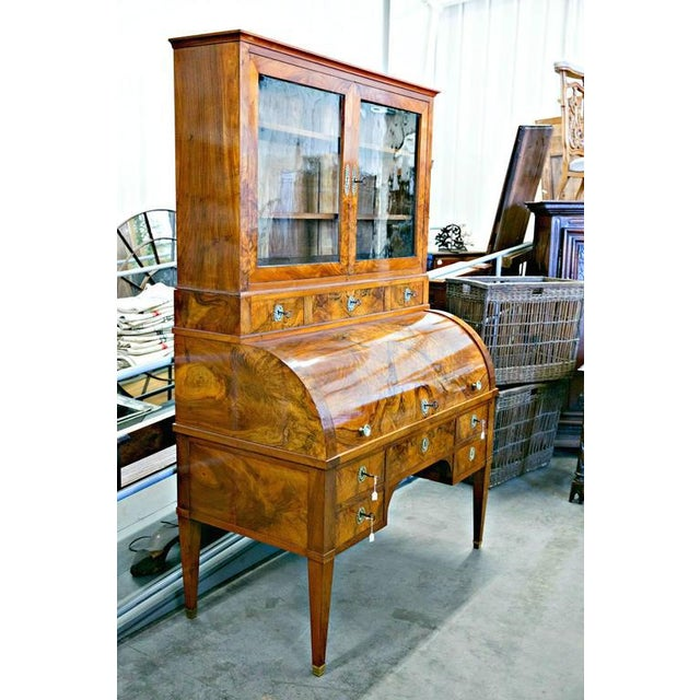 Late 18th Century 18th Century Louis XVI Period Bureau À Cylindre Cylinder Secretary Desk For Sale - Image 5 of 10