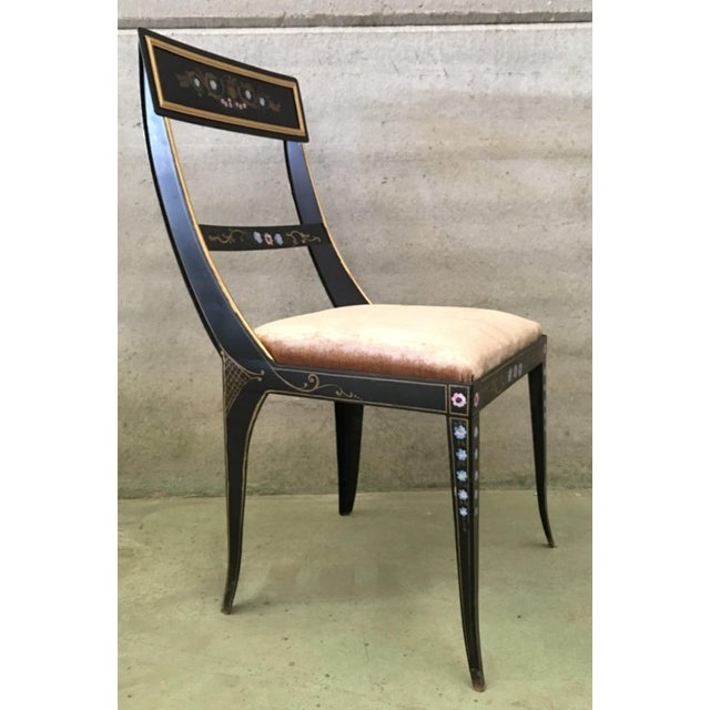 Mid 19th Century Early Regency or Gustavian Bellman Chair After Sheraton, Set of Six Iron Chairs For Sale - Image 5 of 10