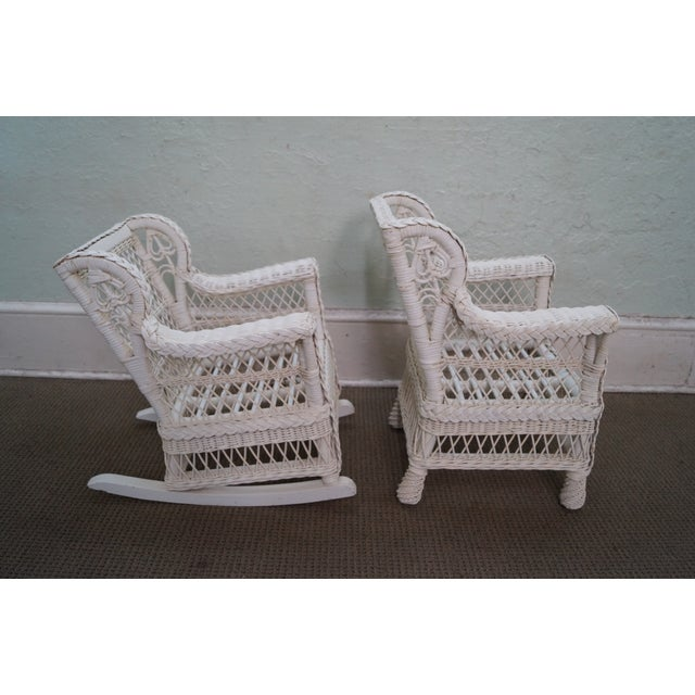 Victorian Child's Wicker Patio Set - Image 6 of 10