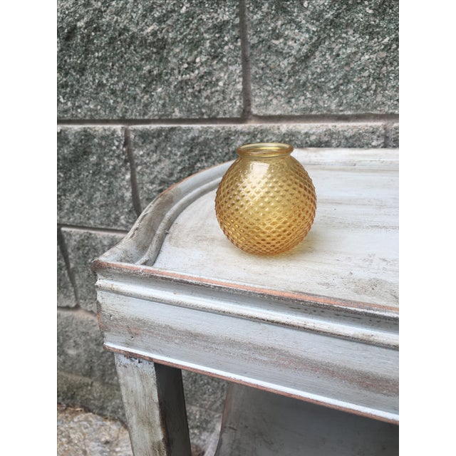 Vintage Burnt Citrine Hobnail Bud Vase Fall Decor - Image 2 of 6