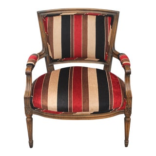 Vintage Modern Upholstered Occasional Armchair For Sale