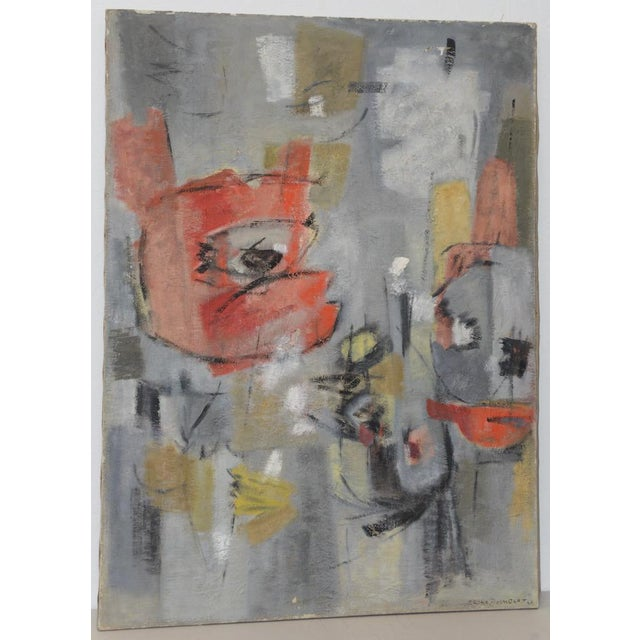 Mid Century Modern Abstract by Erika Baumgart c.1964 For Sale - Image 9 of 9