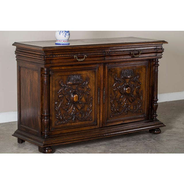 Antique French Henri II Style Walnut Buffet circa 1875 For Sale - Image 9 of 11